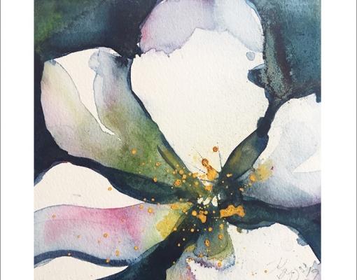Kunstkort kvadratisk Apple Blossom X