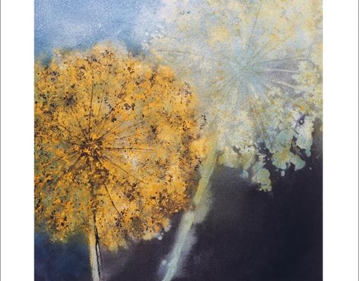 Kunstkort kvadratisk Blooming Leeks VI
