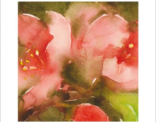 kunstkort kvadratisk Chaenomeles Japonica