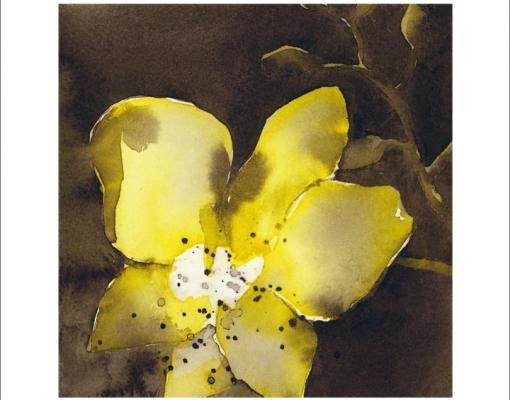 Kunstkort kvadratisk Orkidé Phalanopsis I