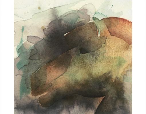 Art card quadratic Wild Horse I