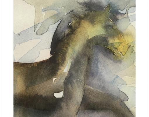 Kunstkort kvadratisk Wild Horse II