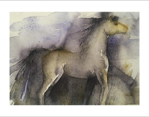 Kunstkort A5 Wild Horse III